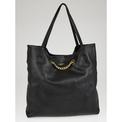 Lanvin Mastic Lambskin Leather Carry Me Medium Tote Bag