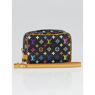 Louis Vuitton Black Monogram Multicolore Trousse Wapity Case
