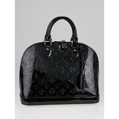 Louis Vuitton Black Monogram Vernis Alma PM Bag