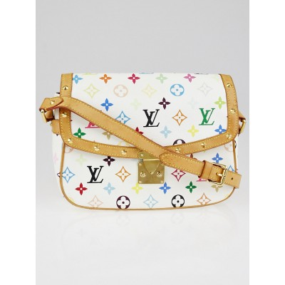 Louis Vuitton White Monogram Multicolore Sologne Bag