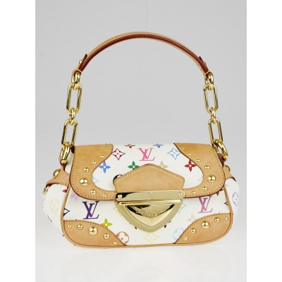 Louis Vuitton White Monogram Multicolore Beverly PM Bag