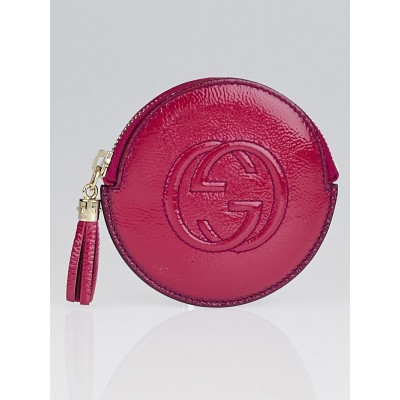 Gucci Fuchsia Patent Leather Soho Coin Purse