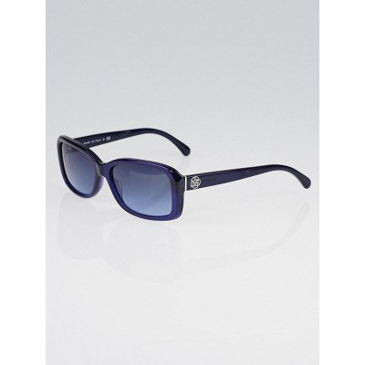 Chanel Blue Frame Mini Camellia Sunglasses-5247 - Yoogis ...
