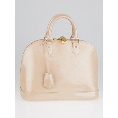 Louis Vuitton Rose Florentine Monogram Vernis Alma PM Bag