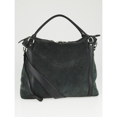 Louis Vuitton Anthracite Monogram Antheia Suede Ixia MM Bag