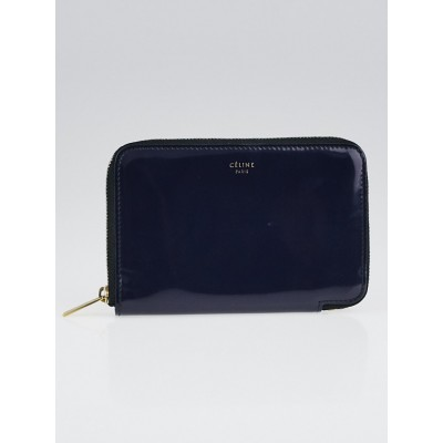 Celine Souris Patent Leather Medium Zip Around Wallet