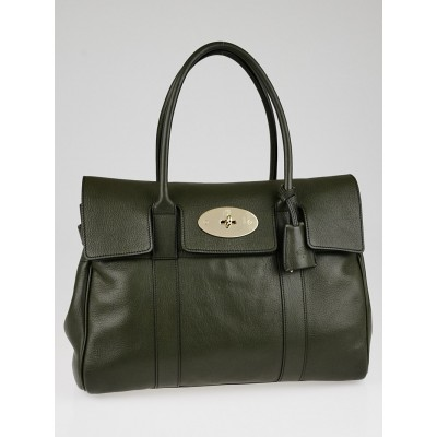 Mulberry Evergreen Glossy Goat Leather Bayswater Bag