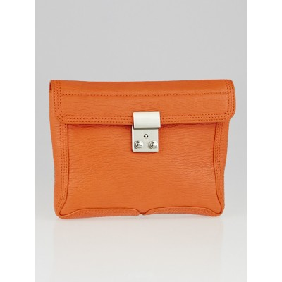 3.1 Phillip Lim Mandarin Leather Pashli Small Clutch Bag