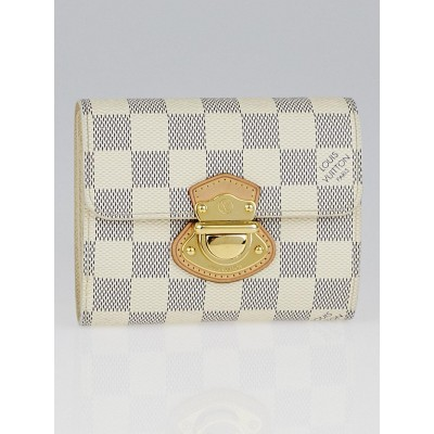 Louis Vuitton Azur Damier Canvas Joey Wallet