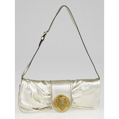Gucci Gold Leather Hysteria Clutch Bag