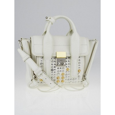 3.1 Phillip Lim White Studded Leather Mini Pashli Bag