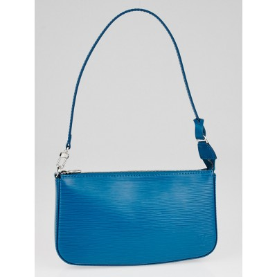 Louis Vuitton Cyan Epi Leather Accessories Pochette NM Bag