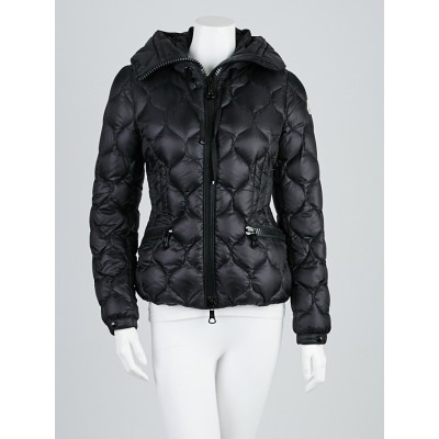 Moncler Black Quilted Nylon Gres Down Jacket Size 0/XS