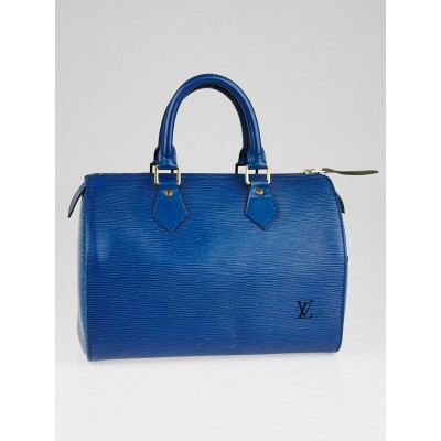 Louis Vuitton Toledo Blue Epi Leather Speedy 25 Bag