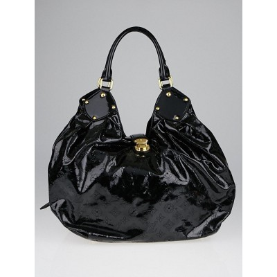 Louis Vuitton Limited Edition Black Patent Leather Surya XL Bag