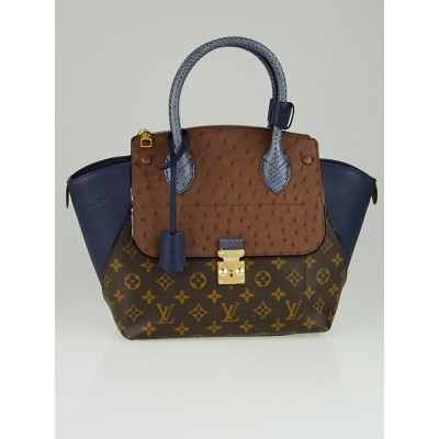Louis Vuitton Limited Edition Blue Exotique Monogram Majestueux PM Tote Bag