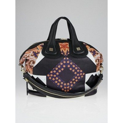 Givenchy Multicolor Patchwork Printed Lambskin Leather Medium Nightingale Bag