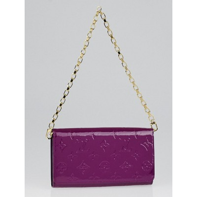 Louis Vuitton Amethyste Monogram Vernis Chaine Wallet