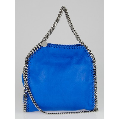 Stella McCartney Bright Blue Shaggy Deer Faux Leather Mini Baby Bella Bag