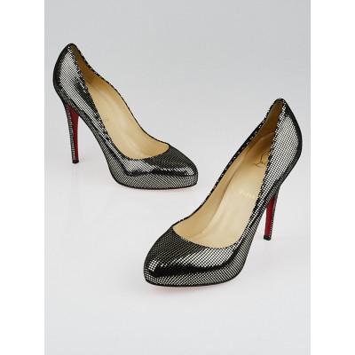 Christian Louboutin Pewter Suede Declic 120 Pumps Size 10.5/41