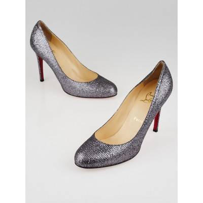 Christian Louboutin Silver Glitter Simple 100 Pumps Size 9/39.5