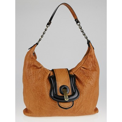 Fendi Brown Leather Borsa B Hobo Bag