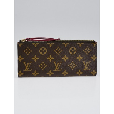Louis Vuitton Monogram Canvas Fuchsia Adele Wallet