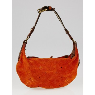 Louis Vuitton Limited Edition Orange Monogram Suede Onatah PM Bag