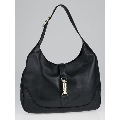 Gucci Black Leather New Jackie Medium Shoulder Bag