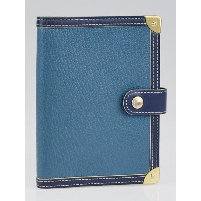 Louis Vuitton Blue Suhali Leather Small Agenda/Notebook Cover