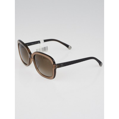 Chanel Brown Acetate Square Frame Sunglasses-5329-A