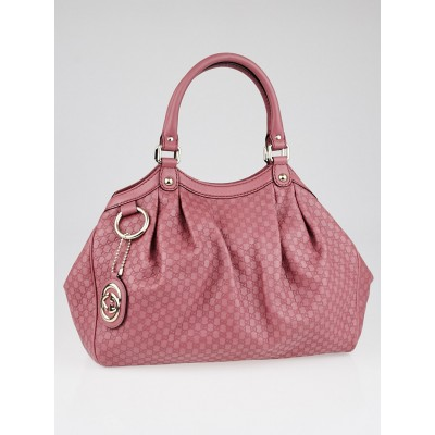 Gucci Vintage Rose Microguccissima Leather Medium Sukey Tote Bag