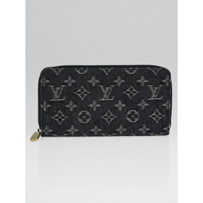 Louis Vuitton Black Denim Monogram Denim Zippy Wallet