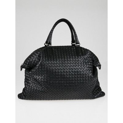 Bottega Veneta Black Intrecciato Woven Nappa Leather Convertible Tote Bag