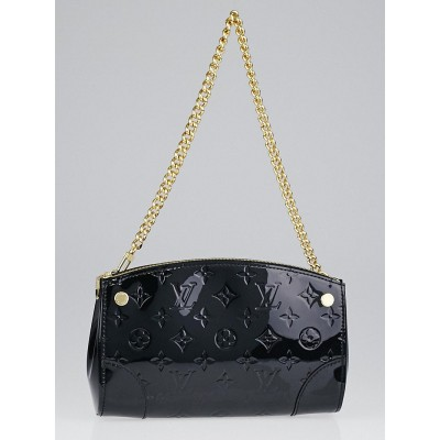 Louis Vuitton Black Monogram Vernis Santa Monica Clutch Bag