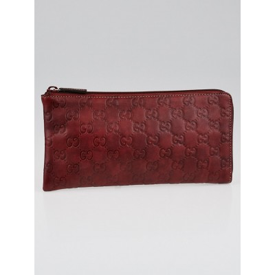 Gucci Red Guccissima Leather Document Holder