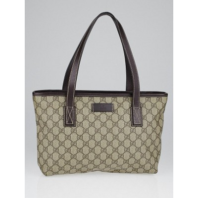 Gucci Beige/Brown GG Coated Canvas Small Tote Bag