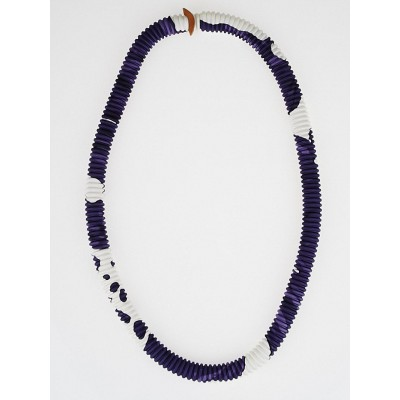 Hermes Navy Blue Silk Petit H Pleated Long Necklace