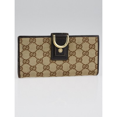 Gucci Beige/Ebony GG Canvas Abbey Long Wallet
