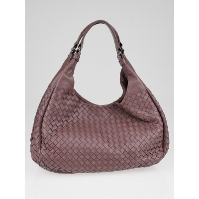 Bottega Veneta Lilac Intrecciato Woven Nappa Leather Medium Campana Bag