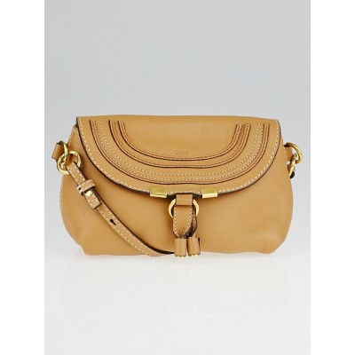 Chloe Ochre Leather Small Marcie Crossbody Bag