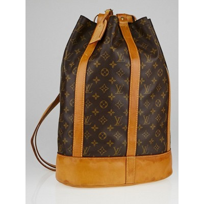 Louis Vuitton Monogram Canvas Randonnee GM Backpack Bag