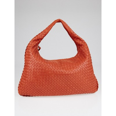 Bottega Veneta Pompei Intrecciato Woven Nappa Leather Large Veneta Hobo Bag