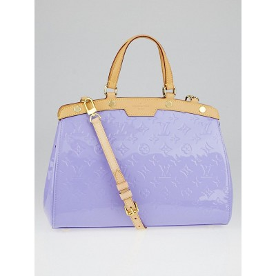 Louis Vuitton Lilac Monogram Vernis Brea MM Bag