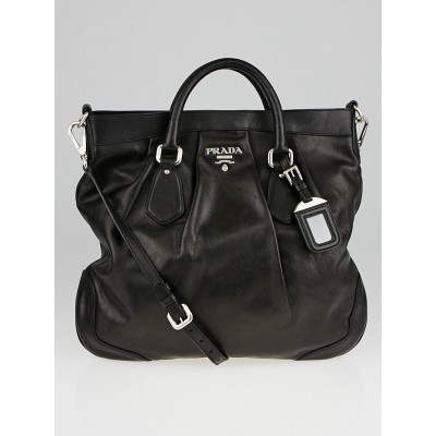 Prada Black Leather Messenger Bag