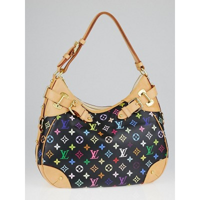 Louis Vuitton Black Monogram Multicolore Greta Bag