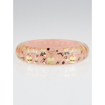 Louis Vuitton Pink Resin Monogram Inclusion GM Bracelet