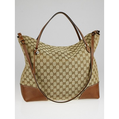 Gucci Beige/Brown GG Canvas Bree Tote Bag