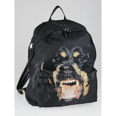 Givenchy Black Rotterweiler Print Nylon Backpack Bag