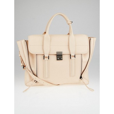 3.1 Phillip Lim Blush Shark Embossed Leather Large Pashli Shoulder Bag